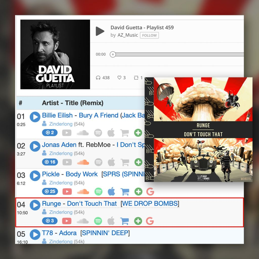 Runge - Dont Touch That supported by David Guetta